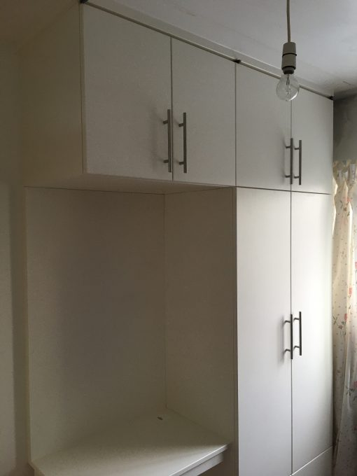 Modern Style Wardrobe with built in PC desk and power supply