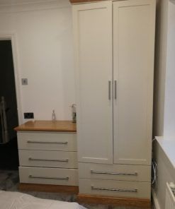 Shaker Style Single Wardrobe & Tall Boy