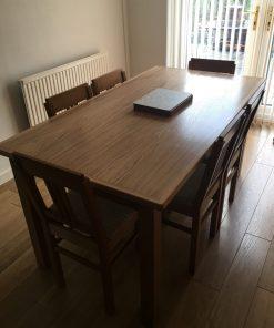 English Oak 6 seat Dining Table