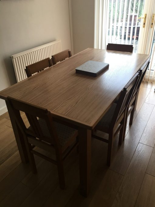 English Oak 6 seat Dining Table